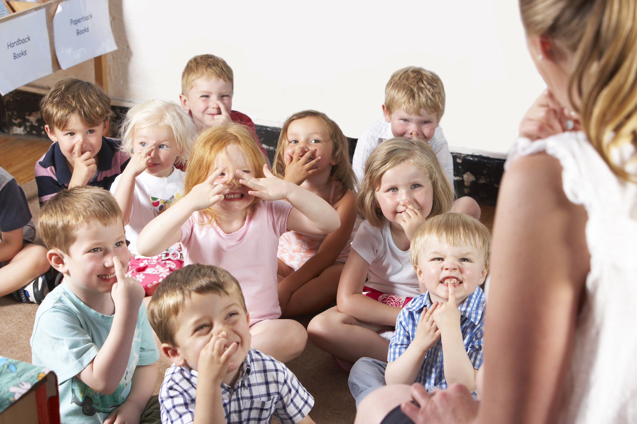 Montessori/Pre-School Class Listening to Teacher